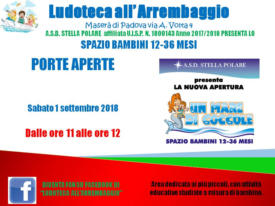 Porte aperte SPAZIO BAMBINI 01092018